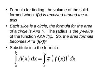 Calculus - Volume