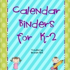 Calendar Binders