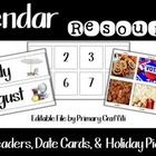 Calendar Cards {Real Photo Images}