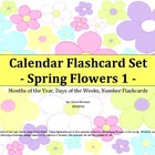 Calendar Flashcard Set - Spring Flowers