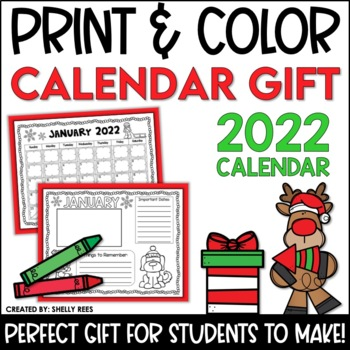 Calendar Gift Packet - Student Christmas Gift for Parents