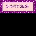 Calendar Headers - purple