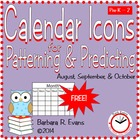 Calendar Icons for Patterning & Predicting -- Sept. & Oct.