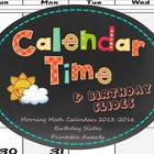 Calendar Math 2013-2016 with Printable Student PDFs