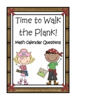 Calendar Math Cards &quot;Time to Walk the Plank&quot;