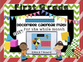 Calendar Math SMARTBoard for December Common Core - Attend