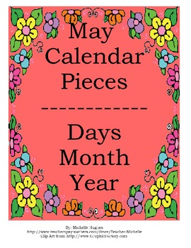 Calendar - Month of May - Days/Month/Year