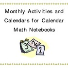 Calendar Notebooks for math