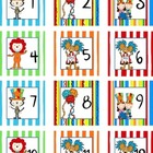 Calendar Number Squares Whimsical
