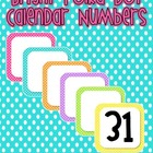 Calendar Numbers BRIGHT polka Dot