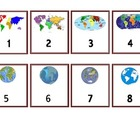Calendar Numbers - Continents