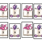 Calendar Numbers - Cute Dinosaurs