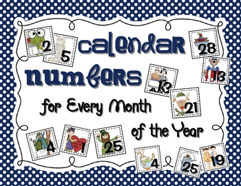 Calendar Numbers for Every Month of the YEAR