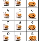 Calendar Numbers with Halloween Graphics in an AAB Pattern