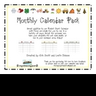 Calendar Pack- 12 Months of the year