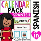 Calendar Pack- Polka Dot Theme in Spanish