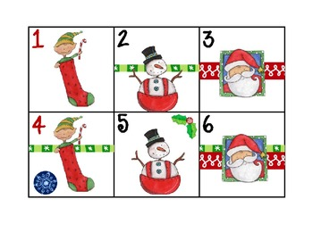 Calendar Patterns for Teaching Math (Santa Theme)