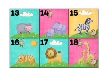 Calendar Patterns to Teach Math (April/Jungle Theme)