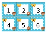 Calendar Pieces - Blue and White Polka-dots with Butterfly