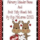 Calendar Pieces for February, Book Tally and Newsletter