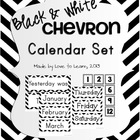 Calendar Set - Black & White Chevron