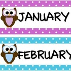Calendar Set - Cute Owl Theme