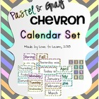 Calendar Set - Pastel & Gray Chevron