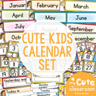 Calendar Set -  Stick Kid Cuties Theme