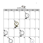 Calendar  activity time for meetings time - French