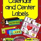Calendar and Center Labels