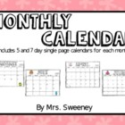 Calendar by Miss Sharp