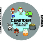 Calendar for August 2014-2015 August-July