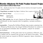 California Missions Tri-Fold Poster Board Project