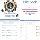 Calvin Coolidge Presidential Fakebook Template