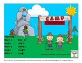 Long and Short Vowel Sorting Camping Themed