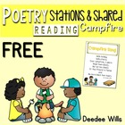 Campfire Poetry Station and Shared Reading FREEBIE CC aligned