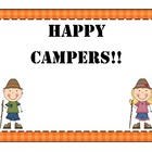 Camping Behavior Posters
