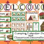 Camping Calendar Set and Classroom Decorations