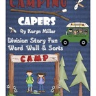 Camping Capers Word Wall & Sorts (Words from Division Stor