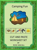Camping Fun Cut and Paste Worksheets PK,K,Special Educatio