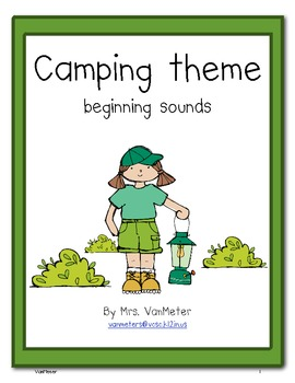 Camping Theme- Beginning Sounds (freebie)