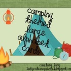 Camping Theme Large Letter Cards with Handwriting Lines