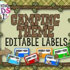 Camping Theme Name Tags or Labels