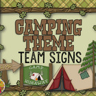 Camping Theme Team Signs