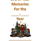 Camping Themed End of School Year Memory Book