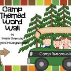 Camping Themed Word Wall