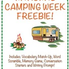 Camping Language {Freebie}