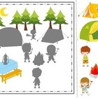 Camping themed Shadow Matching preschool daycare learning