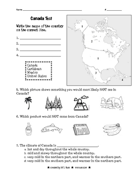 """Canada: Our Neighbor to the North"" Quiz"