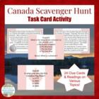 Canada Scavenger Hunt Activity for Human Geography